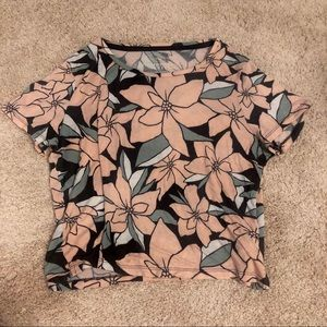 Aero super soft cropped top floral printed size M